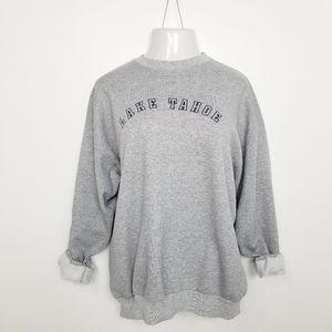 VTG Gray Lake Tahoe Crewneck Sweatshirt